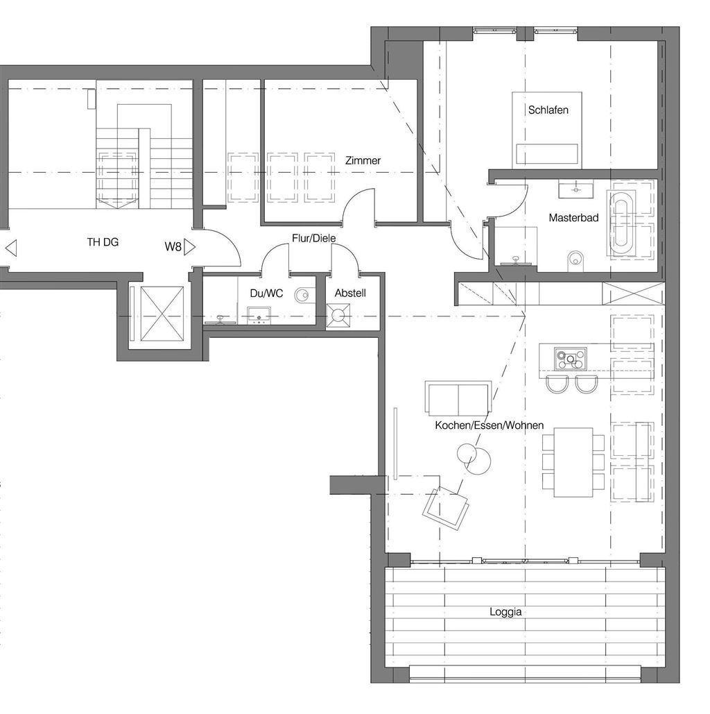 Grundriss Penthousewohnung 8