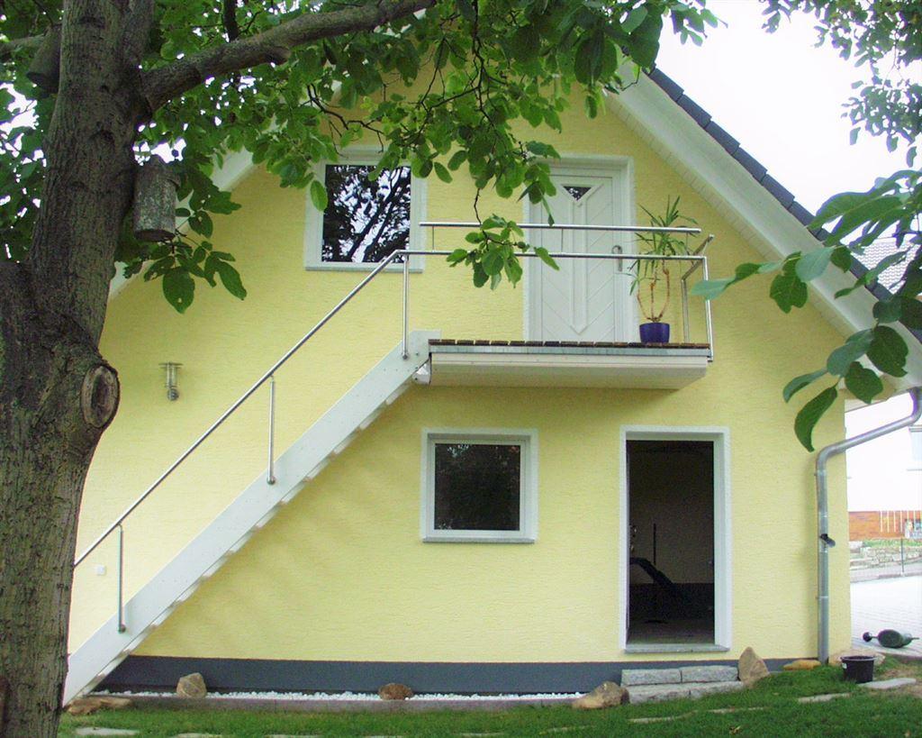 Garagenansicht mit Aufbau