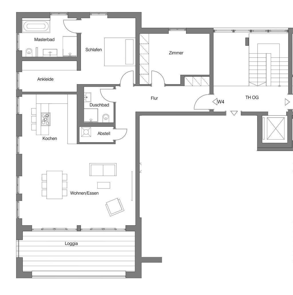Grundriss Etagenwohnung 4
